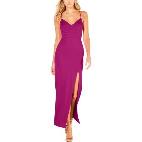Adrianna Papell Womens Lola Formal Dress Sleeveless V-Neck