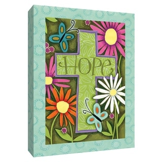 """PTM Images 9-154497  PTM Canvas Collection 10"""" x 8"""" - """"Hope Cross"""" Giclee Christian Art Print on Canvas"""
