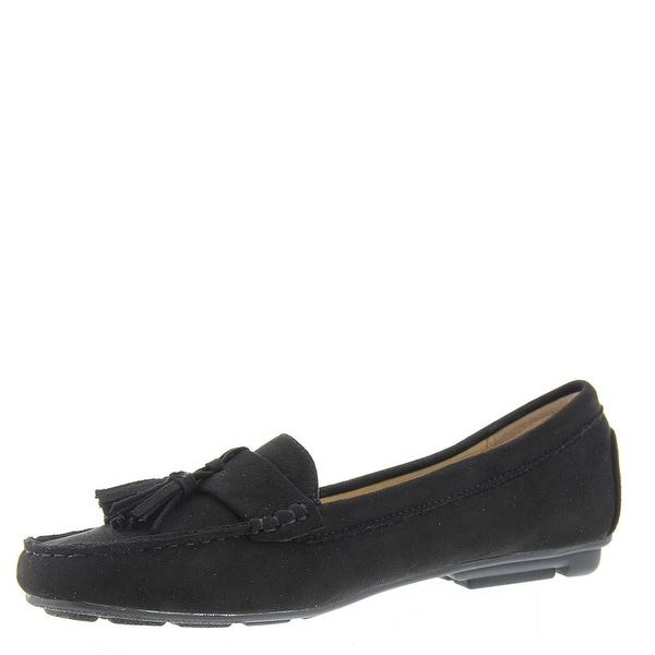Masseys Womens Cate Closed Toe Loafers - Black - 7