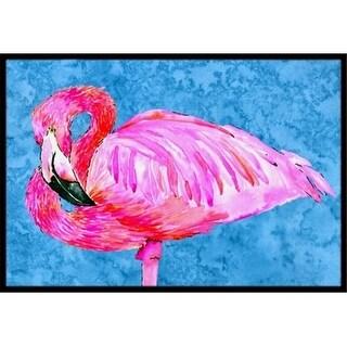 Carolines Treasures 8686MAT 18 x 27 in. Pink Flamingo Indoor Or Outdoor Mat