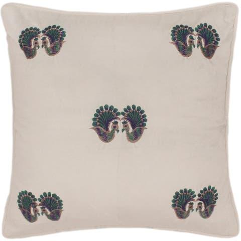Rustic Metcalfe Hand Embroidered Italian Velvet Pillow