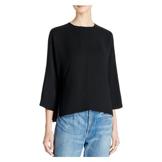 Vince Womens Casual Top Three-Quarter Sleeves Crew Neck