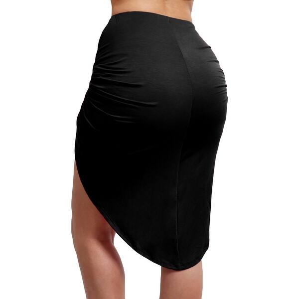 e2544f865a Shop NE PEOPLE Women's bodycon shirred side skirt [NEWSK23] - Free ...