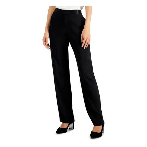 ALFANI Black Straight leg Pants 12