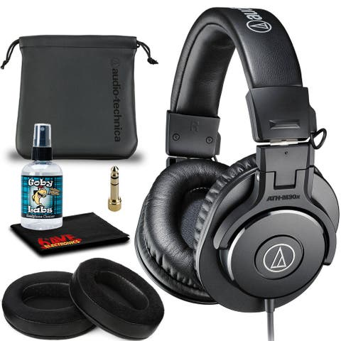 Audio-Technica ATH-M30x Headphones (Black) Includes Hybrid Replacement