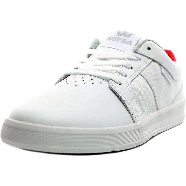 Supra Ineto Men Round Toe Canvas White Skate Shoe