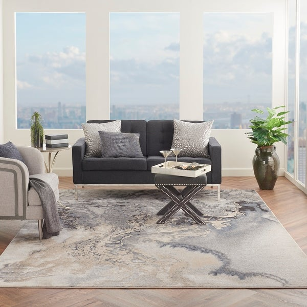 Nourison Maxell Modern Abstract Area Rug. Opens flyout.