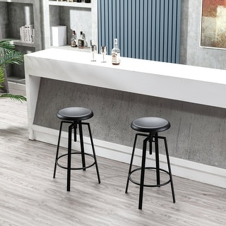 """Link to 33"""" Metal Adjustable Height Swivel Bar Stool, Set of 2 Similar Items in Dining Room & Bar Furniture"""