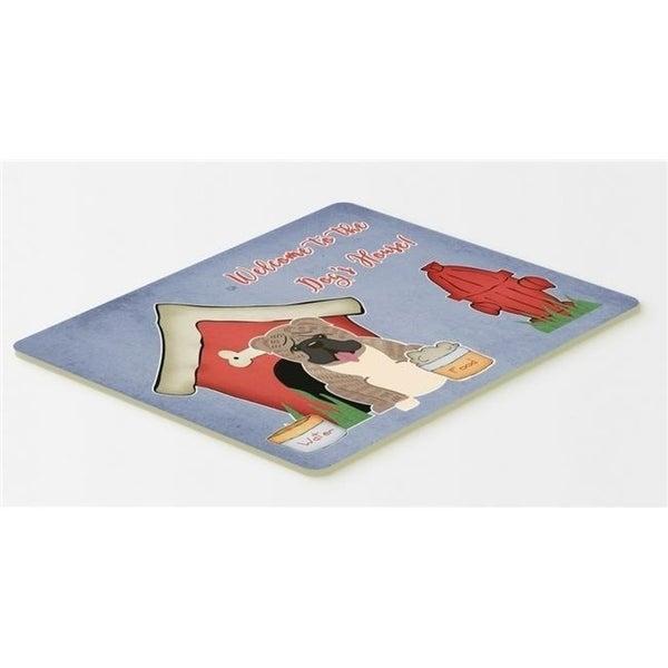 Carolines Treasures BB2880CMT Dog House Collection English Bulldog Grey Brindle Kitchen or Bath Mat 20 x 30