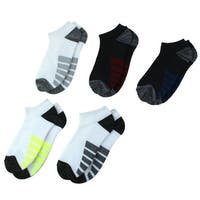 Man Exercise Cycling Cushion Low Cut Sport Ankle Socks Assorted Color 5 Pairs