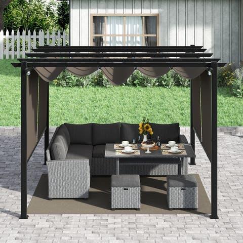 Corvus Vern 10x10 FT Aluminum Square Outdoor Canopy Pergola