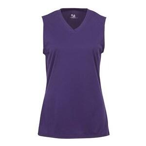 B-Core Women's Sleeveless T-Shirt - Purple - M