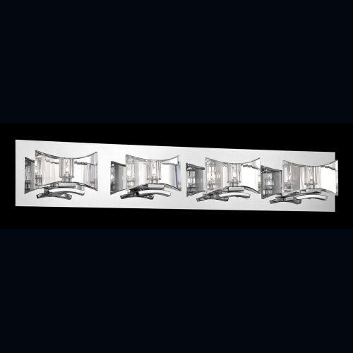 Eurofase Lighting 26349 Uzo 4 Light Crystal Bathroom Vanity Light