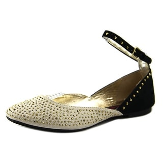 Material Girl Krown Round Toe Synthetic Flats