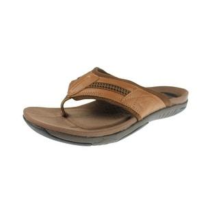 Propet Mens Martinez Xt Leather Casual Flip-Flops - 14 medium (d)