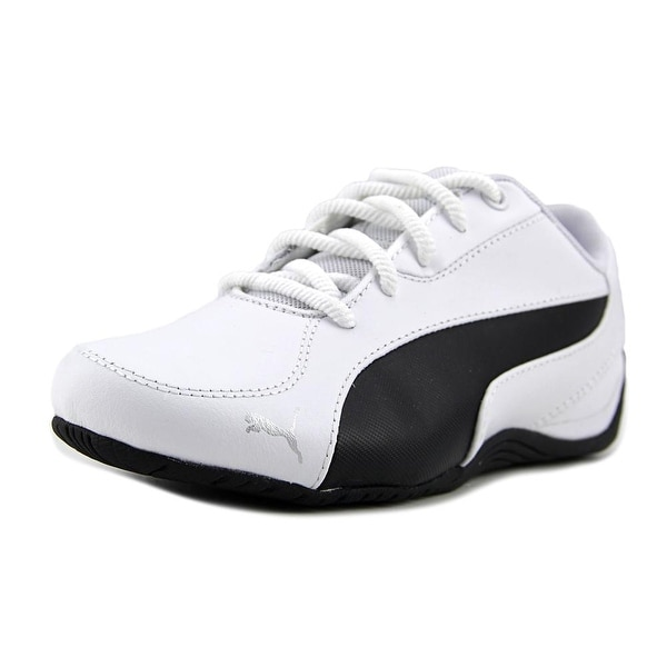Puma Drift Cat 5 Core Women Round Toe Canvas White Sneakers