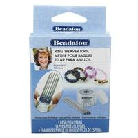 Beadalon Ring Weaver Tool, Aluminum Base with 18 Pins, Makes Sizes  4 / 6 / 9 & 11