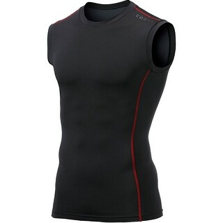 f4465d48 Shop TSLA Tesla MUA05 Baselayer Sleeveless Compression Muscle Tank Top -  Black/Red - Free Shipping On Orders Over $45 - Overstock - 18910264