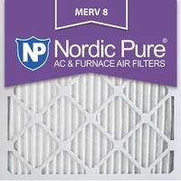 Nordic Pure 12x12x1 Pleated MERV 8 AC Furnace Air Filters Qty 3