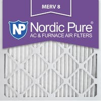 Nordic Pure 12x12x1 Pleated MERV 8 AC Furnace Air Filters Qty 6