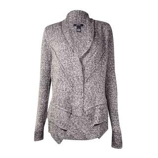 Alfani Women's Marled Shawl Collar Cardigan Sweater (M, Grey Combo) - m