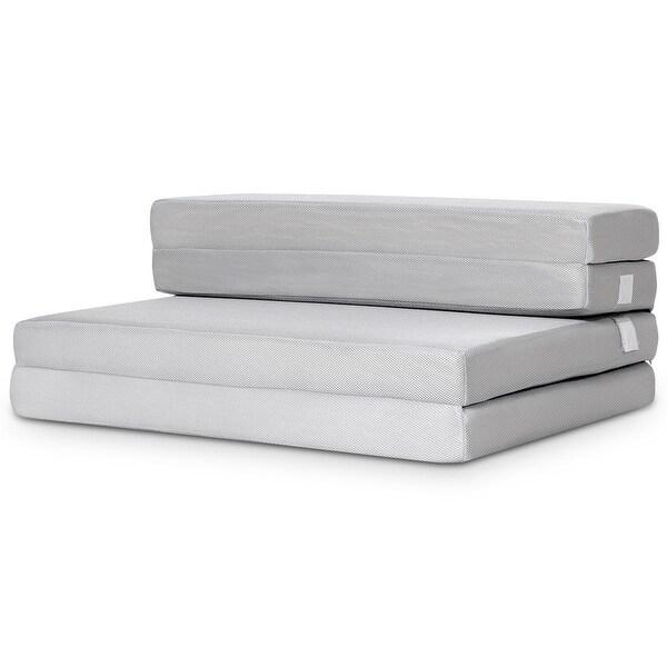 shop gymax 4 39 39 twin xl size foam folding mattress sofa bed guests floor mat carrying handles. Black Bedroom Furniture Sets. Home Design Ideas