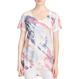Nally & Millie Womens Tunic Top Asymmetric Printed
