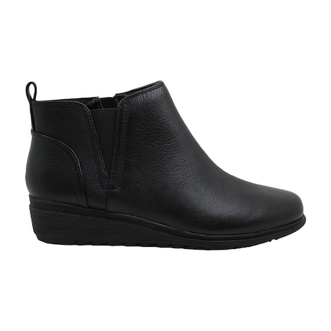 Easy Spirit Womens Yvonne Leather Round Toe Ankle Fashion Boots