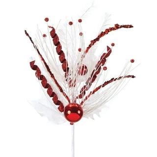 """Club Pack of 12 Peppermint Twist Red and White Pine and Holly Artificial Christmas Sprays 19"""""""