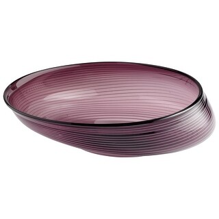 "Cyan Design 5859 16"" x 17.5"" Small Purple Oyster Bowl - n/a"