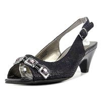 Karen Scott Analese Women Open-Toe Synthetic Black Slingback Heel