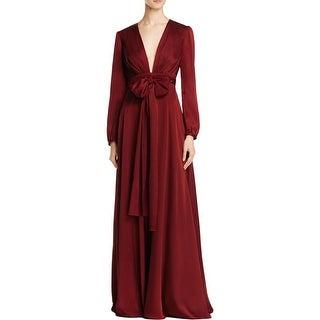 Jill Stuart Womens Formal Dress V Neck Tie Waist - 6