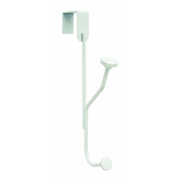 """Amerock H55540GW Single Over-the-Door Hook, White, Medium, 5.33"""""""