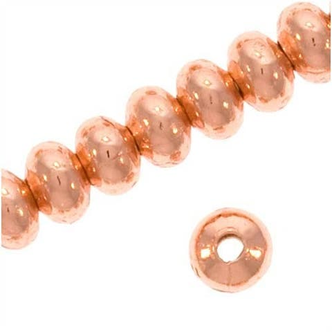 Bright Copper Plated Rondelle Beads 3x2mm (144)