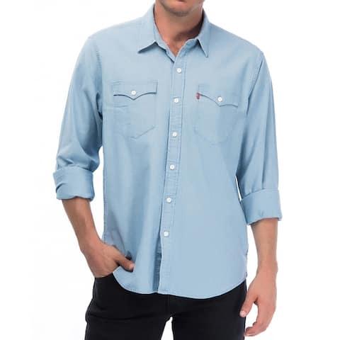 Levis Western Classic Modern Jean Shirt Button Up Lightweight Chambray 57429