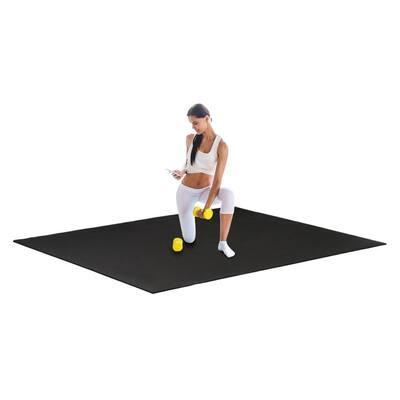 6'x5'/6'x4' Exercise Mat, Extra Thick Non Slip PVC Yoga Mat