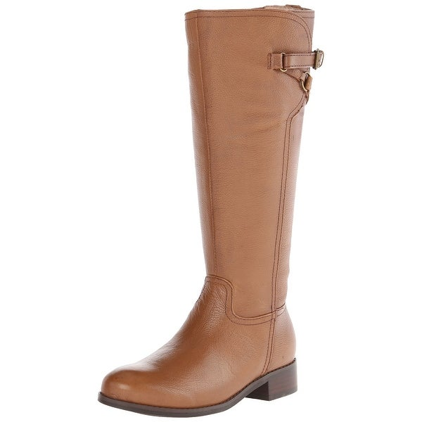 Trotters Brown Womens Shoes 6N Lucky Knee High Leather Boot