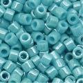 Miyuki Delica Seed Beads 10/0 Opaque Light Aqua Luster DBM0217 8 GR - Thumbnail 0