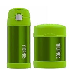 Thermos Funtainer Insulated 12oz Drink Bottle and 10oz Food Jar - Lime Green