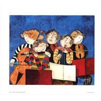 ''Pr'©lude'' by Graciela Rodo Boulanger Latino Art Print (25.125 x 29.125 in.)