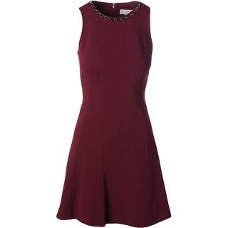 MICHAEL Michael Kors Womens Embellished Sleeveless Cocktail Dress
