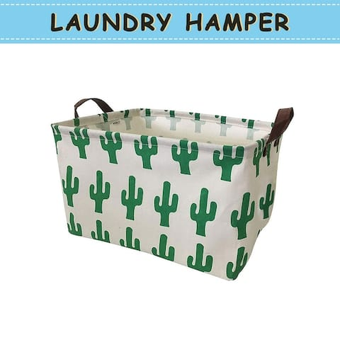 Laundry Basket with Strong Handles, Collapsible & Convenient Home Organizer Containers for Clothes Hamper