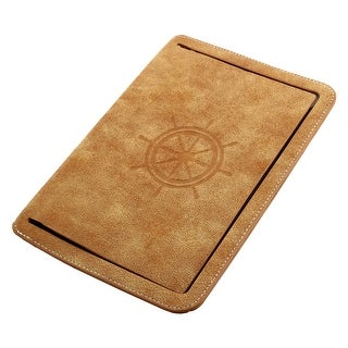 Faux Leather Handheld Smart Stand Protective Case Pale Orange for iPad Mini 4