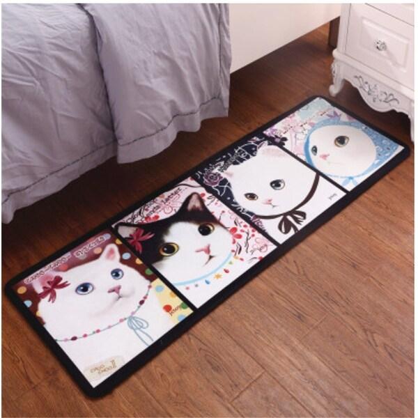 Children\'s Bedroom Anti-Slip Carpet Mat various designs and sizes - White -  200x60