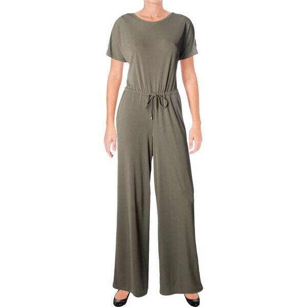 Shop Lauren Ralph Lauren Womens Ropata Jumpsuit Dressy Wide Leg ... 65b639d49c27