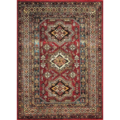 The Curated Nomad Ferlinghetti Indoor/ Outdoor Medieval Herald-border Area Rug