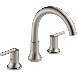 Delta T2759  Trinsic Deck Mounted Roman Tub Filler Trim with Metal Lever Handles