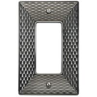 Atlas Homewares MANPSR Mandalay Single Rocker Switch Plate - Brushed nickel - N/A