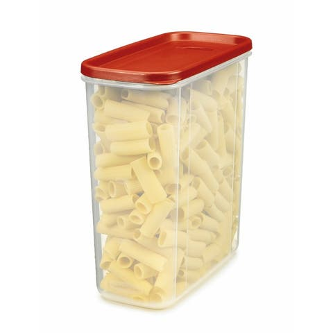 Rubbermaid 1776473 Modular Dry Food Container, Clear/Racer Red, 21-Cup