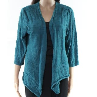 986a2bac4f Quick View. Was  21.98.  3.30 OFF. Sale  18.68. Alfani Green Womens Size XL  Open Front Crinkle Cardigan Sweater